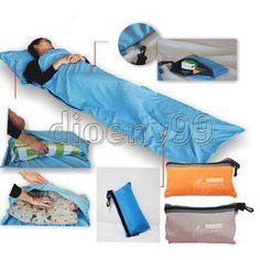 Single Liner Portable Silk Inner Travel Hostel Sheet Sack Camping Sleeping Bag #Unbranded