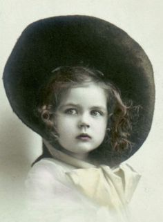Little girl in hat...probably late 1800's . . .