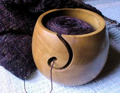 A Beginner& Crochet Adventures: Upcycled Yarn Bowl Wooden Yarn Bowl, Wood Bowls, Wood Turning Projects, Wood Projects, Dremel Projects, Wood Lathe, Crochet For Beginners, Wood Carving, Wood Crafts