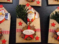 Kreativ am Deich : .Umschlag mit Weihnachtstee, Schokimann und Deko.