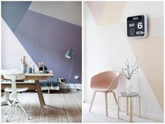 Colour and Precision geometric wall painting frenchbydesign_papernstitch Hamburg von Innen
