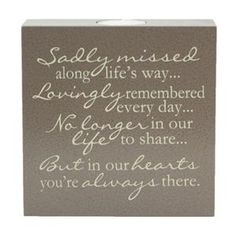 Memorial Candle: This chocolate colored memorial tealight candle has such a sweet sympathy message! $38.99 + FREE SHIPPING #SympathyMessage