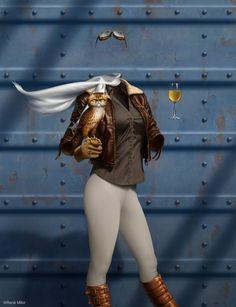 The aviator; the Secret Sherry Society poster (digital artwork)