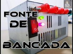 COMO CONVERTER UMA FONTE ATX EM UMA FONTE DE BANCADA? - YouTube