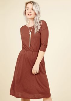 Set the Staple Knit Dress in Ginger, #ModCloth