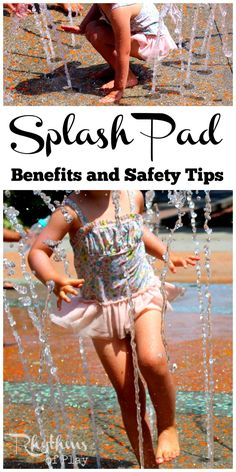 A splash pad provides water play and fun for the whole family. Splash pads are a fun gross motor sensory activity for kids on a hot day. There are many learning benefits to splash pad play. Even though they are safer than pools and other open bodies of water, there are still many things to keep in mind to keep kids safe while having fun.