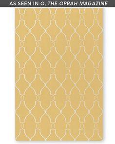 Great tiled pattern.  Not a fan of flat-weave though.