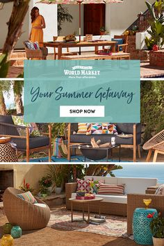 SHOP NOW at Cost Plus World Market: Outdoor Home Decor. Create your own private paradise with our stylish and affordable selection of patio furniture, outdoor decor and outdoor furniture sets and seating at the most relaxing values this side of Tahiti. #WorldMarket #HomeDecor