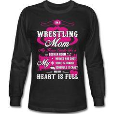 Wrestling Mom My Heart Is Full T Shirt wrestling Wrestling Mom, Wrestling Shirts, Sports Mom, House Smells, Sports Shirts, Mom Shirts, My Style, Tees, Sweatshirts