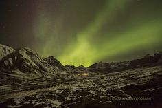 Northern Lights over Independence Mine Alaska.