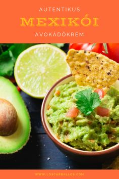 Guacamole bowl with ingredients and tortilla chips on a blue painted wooden table. Nutella, Tapas, Food Flatlay, Fruits Photos, Arabic Dessert, French Toast, Breakfast Photo, Cooking Instructions, Mexican Dishes