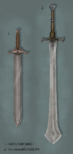 There were thoughts on The Unknown and Hirad's swords too from Freya Horn. I like the nicks and scratches on these obviously well-used blades...