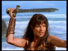 Xena drills with a sword near the ocean in much the same manner as Arnold in John Milius' Conan the Barbarian (1982).