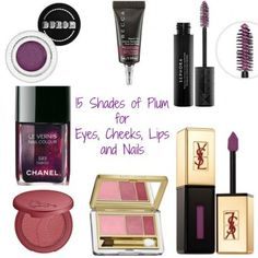 15 Shades of Plum For Eyes, Cheeks, Lips and Nails