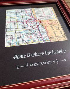 Home is where the heart is  Grand Forks ND by LucyGirlandCo, $32.00