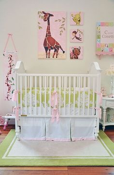 Gorgeous girl's nursery starring Gillespie the Giraffe!