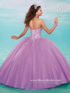 3a00b6c086b Tantalize in the tiered tulle Marys Bridal Beloving 4611 quinceanera dress.