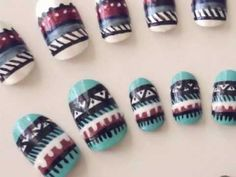 Easy Tribal Nails!