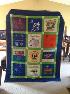 Quilt for the Diamond & Denim Event benefiting the Top of Michigan Trails Council