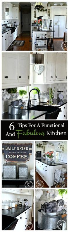 6 TIPS FOR A FUNCTIONAL AND FABULOUS KITCHEN Easy to do ways to keep your kitchen clutter free and fabulous!