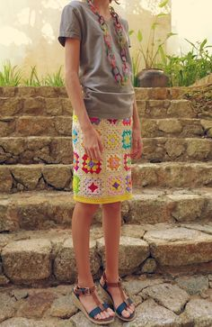 Granny Square Skirt - Love it but not sure my backside would maintain the integrity of the square!