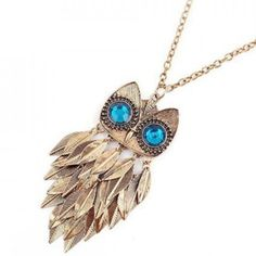 Blue Eyed Owl Necklace Brand new & never been worn. Great statement piece for your next night out! If you have any questions please feel free to ask! xx Vintage Jewelry Necklaces