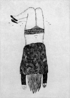 le rideau-etchings 4  Amelie Fontaine