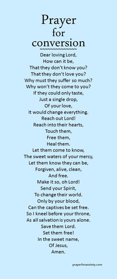 Prayer for conversion