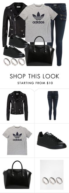 """""""Style #11188"""" by vany-alvarado ❤ liked on Polyvore featuring Yves Saint Laurent, Paige Denim, adidas, Givenchy and ASOS"""