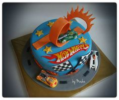 Hot wheels cake very similar to the one we are getting :)
