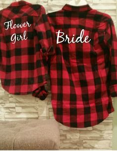 Flower Girl Flannels.Flower Girl Shirt, Bridal Party Gifts, Bride Shirt, Flower Girl Outfit, Wedding Rehearsal, Wedding Gift, Flower Girl, by AmbitiousStyles on Etsy https://www.etsy.com/listing/477730418/flower-girl-flannelsflower-girl-shirt