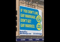 Manhattan Mini Storage Ad Supporting Gay Marriage