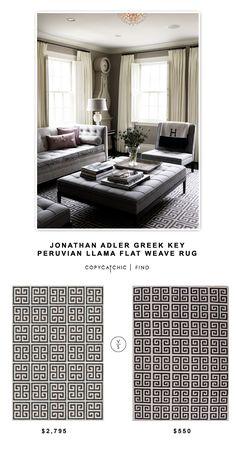 @jonathanadler Greek Key Peruvian Llama Flat Weave Rug $2795 vs @overstock Handmade Flat-Weave Geometric-Pattern Rug $550