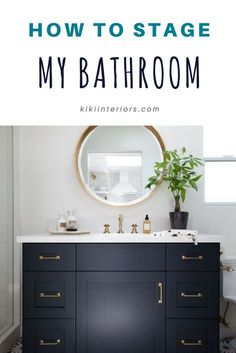 How to Stage a Bathroom - Home staging tips and advice for staging a bathroom. Home staging tips.