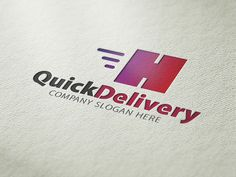 Quick Delivery Logo by CreativeDezing on @creativemarket
