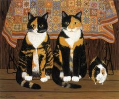 Mimi Vang Olsen cat painting  From: http://www.catsfineart.com/html/cat_portraits_135.php#