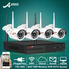 Новые Plug and Play Беспроводной 4CH NVR HD 720 P ИК Открытый Сетевой Безопасности Видеонаблюдения IP WI-FI Камеры Наблюдения система(China (Mainland))
