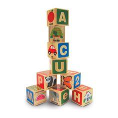 Melissa & Doug ABC 123 Wooden Blocks Set