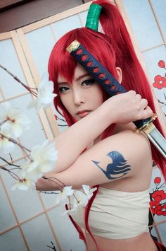 AMAZING cosplay ll FairyTail II Erza Scarlet in Japanese Cloth by Geumdong