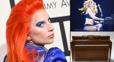 """Lady Gaga's childhood piano is going on the auction block in New York City next month where it could fetch as much as $200,000. Julien's Auctions is offering the piano in its """"Music Icons"""" memorabilia sale at the Hard Rock Cafe New York on May 21.... Cafe New York, Trending Topics, Music Icon, Lady Gaga, Hard Rock, Rock And Roll, Piano, Childhood, Auction"""