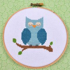 I don't like cross-stitch. But I do like owls. :-/