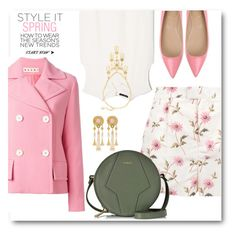 """""""Style it Spring in Daisy Print Shorts"""" by brendariley-1 ❤ liked on Polyvore featuring Marni, RED Valentino, MANGO, Roger Vivier, Furla and Ben-Amun"""