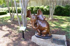 Book: Horton Hears a Who Location: The Storybook Garden, The National Center for Children's Illustrated Literature, Abilene, TX Sculptor: Le...