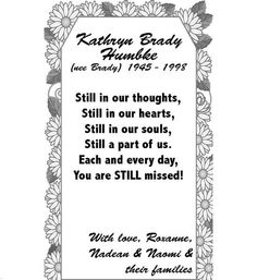 Kathryn Humbke - In Memoriam - Camrose, AB - Your Life Moments