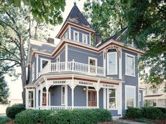 Blue Color Schemes Curb Appeal Tips for Victorian Homes | Landscaping Ideas and Hardscape Design | HGTV