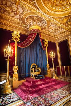 Palace of Fontainebleau Throne Room - Paris, France