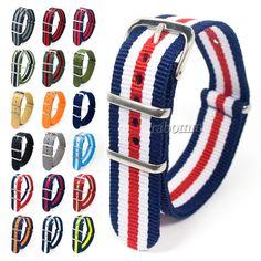 Nylon Watch Band Strap es correa de reloj militar estilo 20mm Swatch, Nato Strap, Ribbon Belt, Military Army, Omega Seamaster, Fashion Night, Suit And Tie, Seiko, Casio
