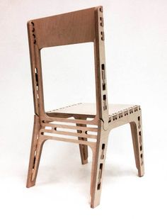 CNC Router Chair Design. Everything fits together without any use of screws or glue!