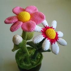 Flower Pot amigurumi crochet pattern