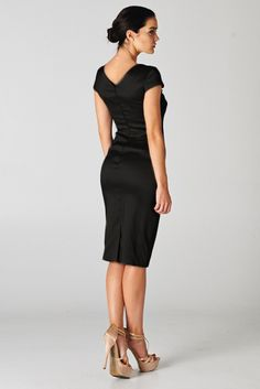Charlice Dress in Classic Black | Women's Clothes, Casual Dresses, Fashion Earrings & Accessories | Emma Stine Limited